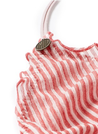 Detail View - Click To Enlarge - Love Stories - 'Reggipetto' candy stripe ruffle elastic bralette