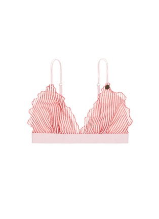 Main View - Click To Enlarge - Love Stories - 'Reggipetto' candy stripe ruffle elastic bralette