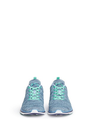 Front View - Click To Enlarge - Athletic Propulsion Labs - 'Techloom Pro' marled knit sneakers