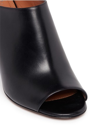 Detail View - Click To Enlarge - Givenchy - '9 Edgy' wooden heel open toe leather mules