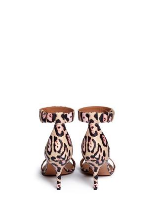 背面 - 点击放大 - GIVENCHY - 豹纹印花真皮高跟凉鞋