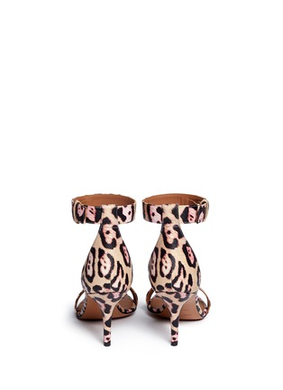 Givenchy-'8 Infinity' jaguar print leather sandals