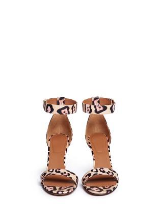 正面 -点击放大 - GIVENCHY - 豹纹印花真皮高跟凉鞋