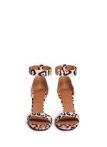 '8 Infinity' jaguar print leather sandals