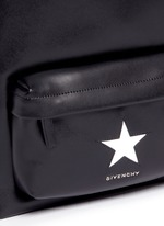 Small star appliqué leather backpack