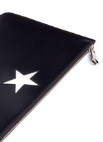 'Classic' medium star patch leather zip pouch