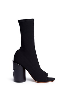 GIVENCHY 'Edgy Line' star appliqué heel leather sandal booties