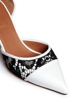 'Escar 6' illusion heel lace leather pumps