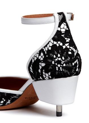 Givenchy-'Escar 6' illusion heel lace leather pumps