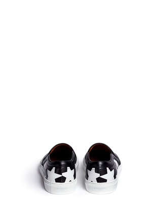 Back View - Click To Enlarge - Givenchy - 'Skate Basse New' star print leather skate slip-ons