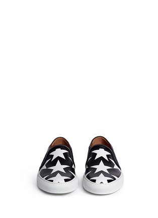 Front View - Click To Enlarge - Givenchy - 'Skate Basse New' star print leather skate slip-ons