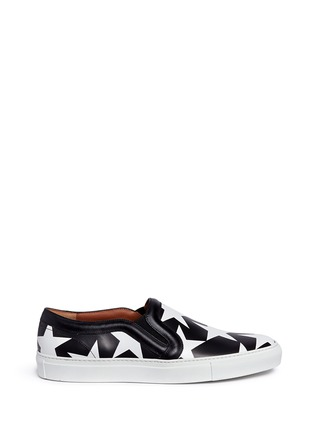 Main View - Click To Enlarge - Givenchy - 'Skate Basse New' star print leather skate slip-ons