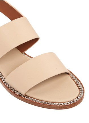 Detail View - Click To Enlarge - Givenchy - 'D Chain' leather slingback sandals