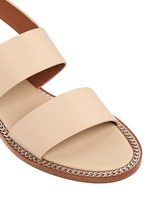 'D Chain' leather slingback sandals