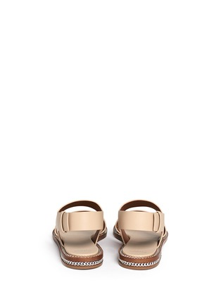 Back View - Click To Enlarge - Givenchy - 'D Chain' leather slingback sandals