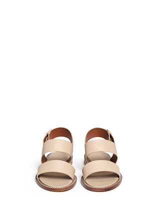 Front View - Click To Enlarge - Givenchy - 'D Chain' leather slingback sandals