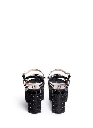 背面 - 点击放大 - ROCHAS - 仿水晶镶空蝴蝶结粗跟凉鞋