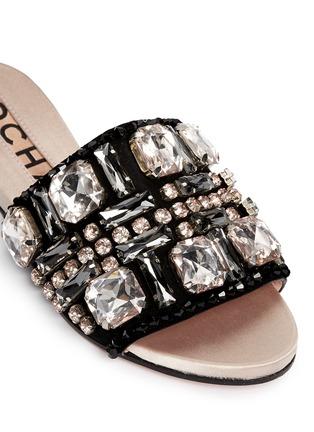 ROCHAS-仿水晶平底凉鞋