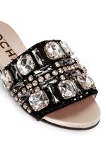 仿水晶平底凉鞋