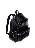 'Classic Hunting' croc embossed leather backpack