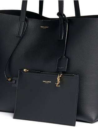 Detail View - Click To Enlarge - Saint Laurent - Large calfskin leather tote