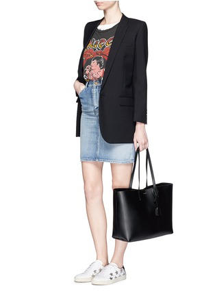 Figure View - Click To Enlarge - Saint Laurent - Large calfskin leather tote
