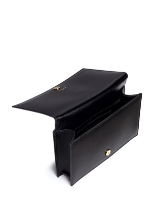 Detail View - Click To Enlarge - Saint Laurent - 'Monogram' grainy leather flap clutch