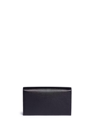 Back View - Click To Enlarge - Saint Laurent - 'Monogram' grainy leather flap clutch