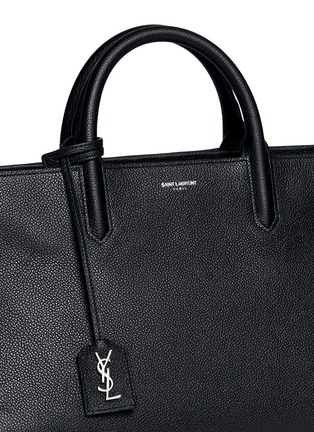 Detail View - Click To Enlarge - SAINT LAURENT - 'Rive Gauche' small grainy leather tote