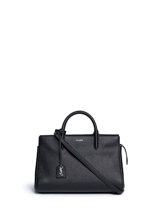Main View - Click To Enlarge - SAINT LAURENT - 'Rive Gauche' small grainy leather tote