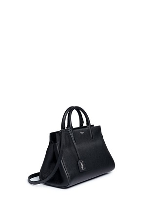 Figure View - Click To Enlarge - SAINT LAURENT - 'Rive Gauche' small grainy leather tote