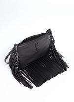 'Monogram' fringe crossbody bag