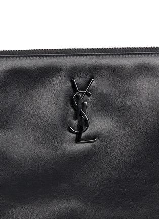 Detail View - Click To Enlarge - SAINT LAURENT - 'Monogram' fringe crossbody bag