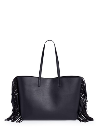 Back View - Click To Enlarge - Saint Laurent - Large fringe leather tote