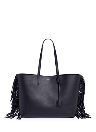 Main View - Click To Enlarge - Saint Laurent - Large fringe leather tote