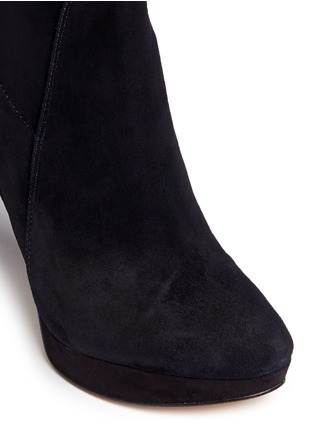 Detail View - Click To Enlarge - Sam Edelman - 'Amber' stretch suede thigh high boots