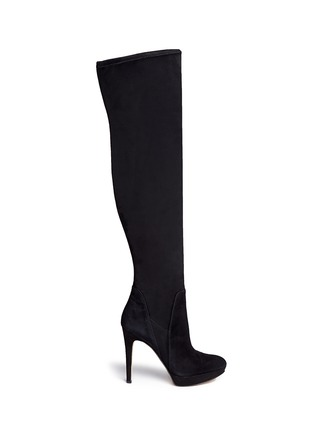 Main View - Click To Enlarge - Sam Edelman - 'Amber' stretch suede thigh high boots