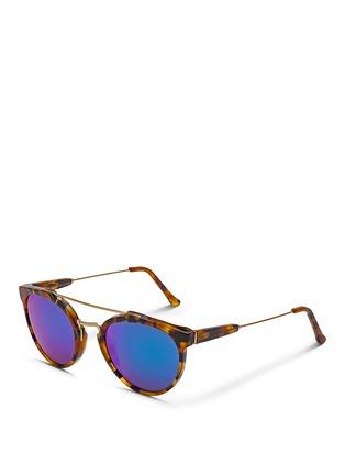 SUPER-'Giaguaro Cove II' acetate metal combo mirror sunglasses