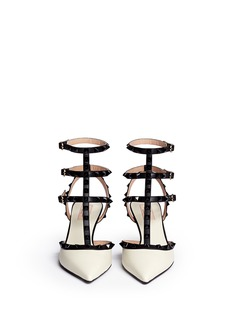 VALENTINO 'Rockstud' caged nappa leather pumps