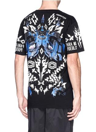 Back View - Click To Enlarge - Marcelo Burlon - 'Pueblo' digital print T-shirt