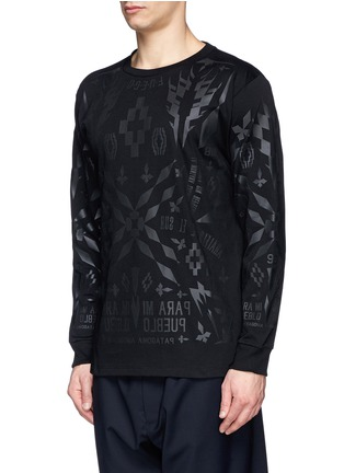 Front View - Click To Enlarge - Marcelo Burlon - 'Tami' rubberised graphic print T-shirt