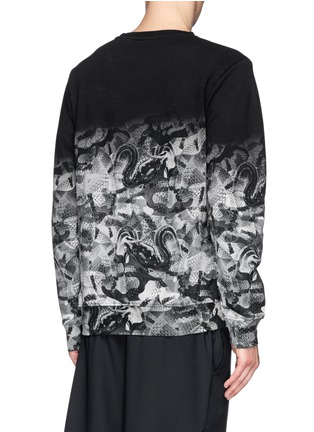 Back View - Click To Enlarge - Marcelo Burlon - Snake print cotton terry sweatshirt