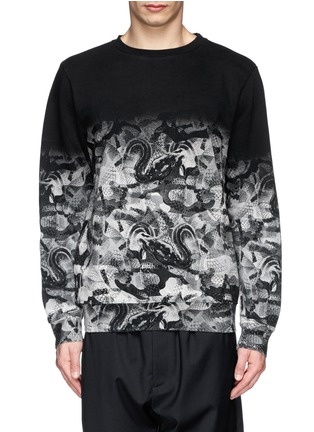 Main View - Click To Enlarge - Marcelo Burlon - Snake print cotton terry sweatshirt