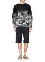 Snake print cotton terry sweatshirt