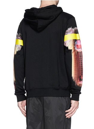 Back View - Click To Enlarge - Marcelo Burlon - 'Adam Ape' print cotton terry hoodie