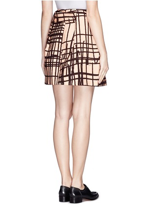 Back View - Click To Enlarge - Chictopia - Stroke print twill skirt