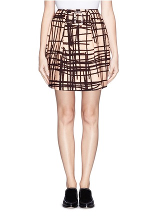 Main View - Click To Enlarge - Chictopia - Stroke print twill skirt
