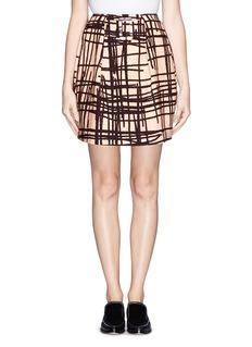 CHICTOPIAStroke print twill skirt
