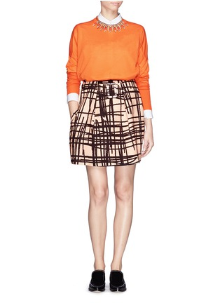 Figure View - Click To Enlarge - Chictopia - Stroke print twill skirt