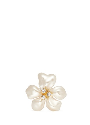 Main View - Click To Enlarge - Kenneth Jay Lane - Glass pearl flower ring